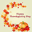 Thanksgiving Day Background With Maple Leaves. All Objects Are Separated. Vector Illustration With Transparency. Eps 10