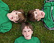 Three Boys Making Faces stock photography