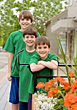 Three Brothers in Green stock photography