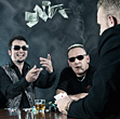 Three Poker Players stock image