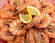 Tiger Prawns With Lemon stock photography