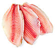 Tilapia Fillets Red stock image