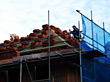 Tile Roof Under Construction stock photo
