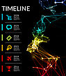 Timeline Element Vector Infographic On Black Background