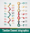Timeline Element Vector Infographic On White Background stock illustration