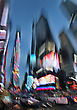 Times Square At Dusk, Defocused And Motion Blurred, Midtown New York City, Usa stock photography