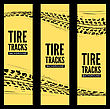 Tire Tracks Background. Vector Illustration. Can Be Used For For Posters, Brochures, Publications, Advertising, Transportation, Wheels, Tires And Sporting Events stock illustration