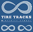 Tire Tracks In Infinity Form. Vector Illustration