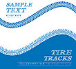 Tire Tracks. Vector Illustration On Blue And White Background
