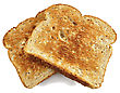 Toasts , Close Up Shot On White Background stock photo
