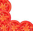 Savoury Tomato Sliced stock photo