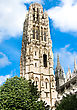 Tower Of Notre Dame Cathedral In Rouen, France