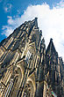 Towers Of Koelner Dom (Cologne Cathedral) Over Blue Sky In Koelne (Cologne) stock photo