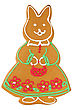 Decorated Traditional Handmade Baked Easter Or Christmas Rabbit stock image