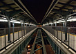 Train Platform, New York, USA stock photo