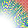 Transparent Colorful Rays. Colored Rays Pattern. Burst Of Star stock vector