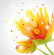 Transparent Flowers stock illustration
