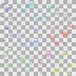 Transparent Soap Bubbles Isolated On Checkered Background