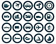 Transportation Set Of Different Vector Web Icons