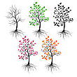 Trees stock vector