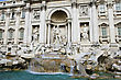 Trevi fountain in Rome, Italy stock photo