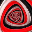 Triangular Vortex Of Black, White, Red Colors