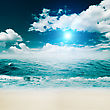 Tropical Beach, Abstract Environmental Backgrounds For Your Design