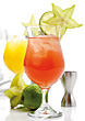 Tropical Cocktails stock photography