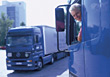 Receiving Truck Dirver stock photo