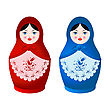 Two Beautiful Matryoshka Dolls