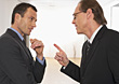 Two Businessmen Having A Discussion stock photo