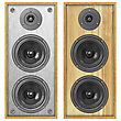 Two Different Styles Acoustic Systems stock photography