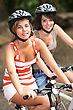 Two Girls On A Bicycle stock photo