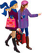 Two Girls Shopping Together