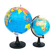 Earth Two Globes stock photo