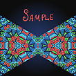 Two Triangles In Red And Blue Color And A Lot Of Copyspace. Template For Menu, Greeting Card, Invitation Or Cover