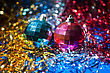 Two Xmas Balls Composition stock image
