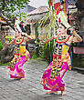 Theater UBUD, BALI, INDONESIA - APRIL 01: Barong Dance Show, The Traditional Balinese Performance On April 01, 2011 In Ubud, Bali, Indonesia stock image