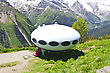 UFO Hotel In Caucasus Mountains Russia stock photo