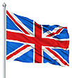 UK National Flag Waving In The Wind stock image