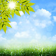 Under The Blue Skies. Abstract Spring And Summer Backgrounds stock photography