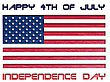 Usa Independence Day Happy 4th Of July Illustration stock image