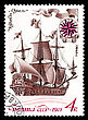 "USSR - CIRCA 1971: A Stamp Printed By USSR, Shows Known Old Russian Sailing Warship An ""Eagle"", Circa 1971 stock image"