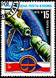 Paper USSR - CIRCA 1978: A Postage Stamp Shows The International Flights In The Space, Circa 1978 stock photography