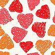 Valentine's Day Abstract Background With Hearts As Picture Of Baby. Seamless Pattern.