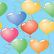 Valentine's Day Abstract Seamless Background With Balloons Heart-form.
