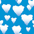 Valentine's Day Abstract Seamless Background With Clouds Heart-form. stock illustration