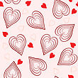 Valentine's Day Abstract Seamless Background With Hearts.