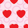 Valentine's Day Abstract Seamless Background With Red Hearts.