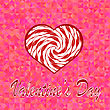 Valentines Day Romantic Banner On Pink Background stock illustration